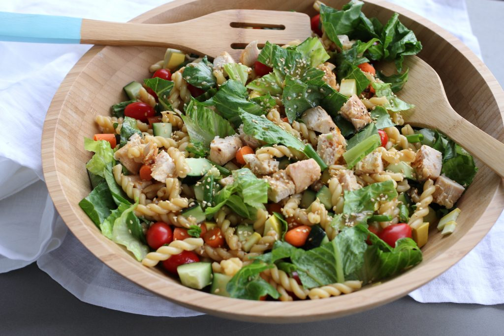 Teriyaki Chicken and Vegetable Pasta Salad