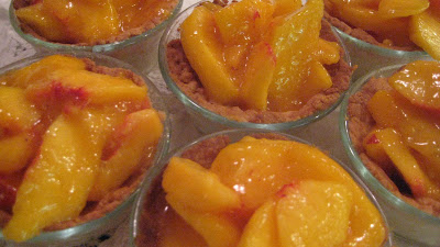 Sugar Tarts with Fresh Peach Filling