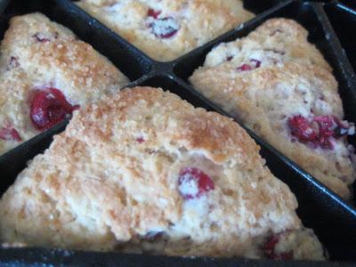 Fresh Cranberry Scones with Almond Cream