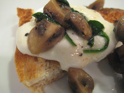 Oprah's Crostini with Wild Mushrooms and Mozzarella