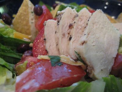 Black Bean Chicken Taco Salad