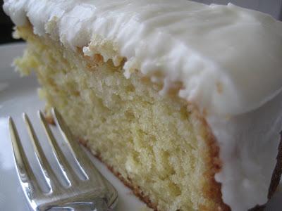 Fresh Lemon Cake with Lemon Sour Cream Icing