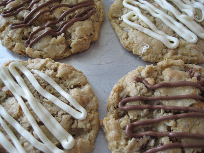 Oatmeal Butterscotch Cookies with Chocolate Drizzle