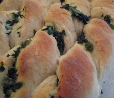 Spinach Herb Twists