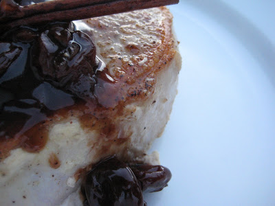Pork Loin Chops with Balsamic Cherry Sauce