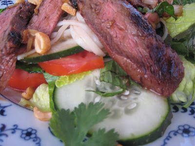 Asian Grilled Flank Steak Salad
