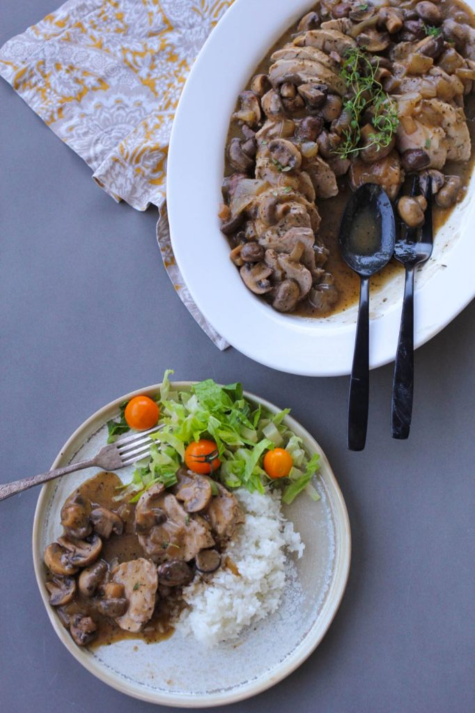 Sara's Sunday Pork Tenderloin with Mushroom Gravy