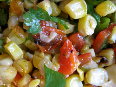 Smoky Grilled Corn Salsa