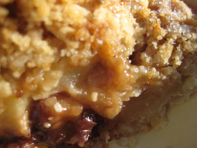 Fresh Pear Pie with Dried Cherries and Brown Sugar Streusel