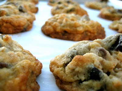 Chocolate Chip Oatmeal Cookies with Dried Cherries