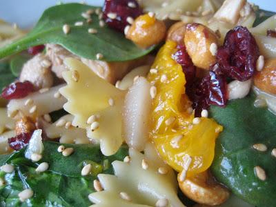 Spinach, Chicken and Bowtie Pasta Salad