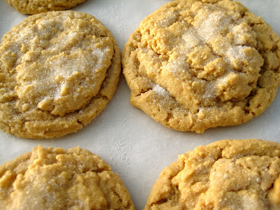 Sugar Topped Peanut Butter Cookies