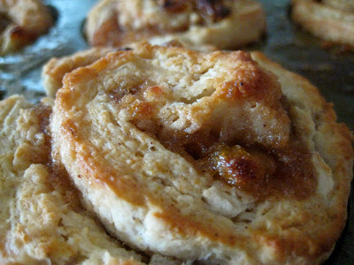 Sticky Apple Butter Biscuits