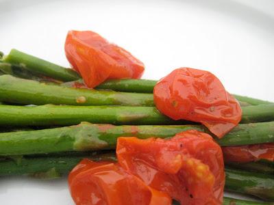 Asparagus and Grape Tomato Saute