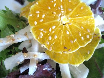 Mixed Greens with Jicama and Orange
