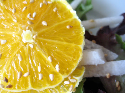 Mother's Day Menu 2010 -Part 1 – Mixed Greens with Jicama and Orange