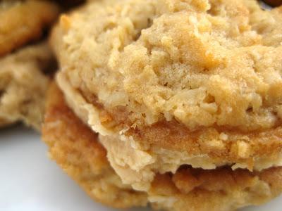 Girl Scout Peanut Butter Oatmeal Sandwich Cookies