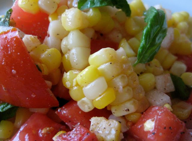 Fresh Corn and Tomato Salad