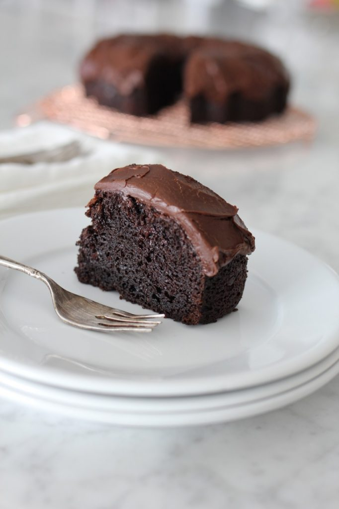 Fool Proof Chocolate Bundt Cake with Fudge Frosting