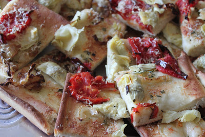 Artichoke and Oven Dried Tomato Foccacia