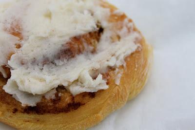 Mel's Kitchen Vanilla Pudding Cinnamon Rolls with Cream Cheese Frosting