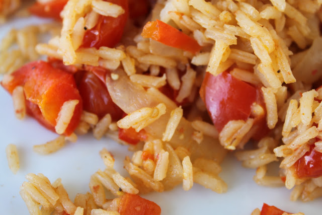 Tomato and Red Pepper Mexi- Rice