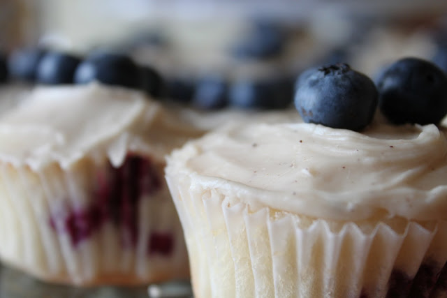 Blueberry Cupcakes with Maple Brown Butter Icing