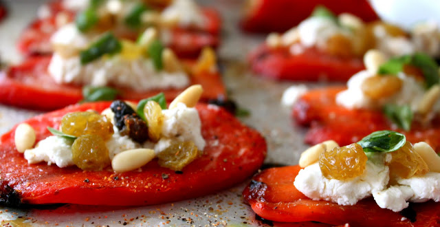 Roasted Pepper And Goat Cheese Appetizer A Bountiful Kitchen