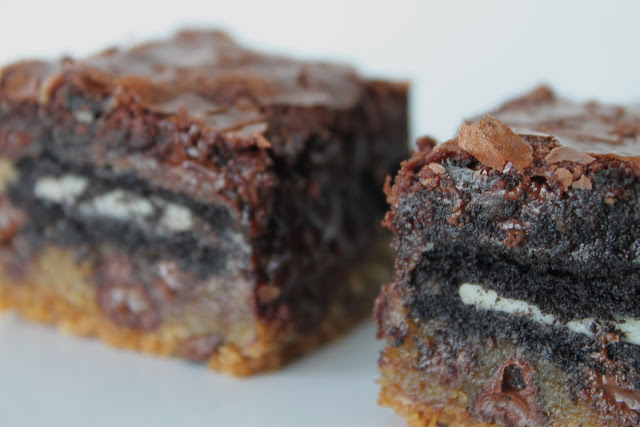 Chocolate Chip Cookie 'n Oreo Brownie Bars