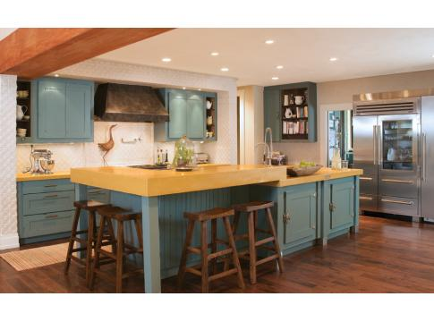 Colorado Homes Turquoise Kitchen