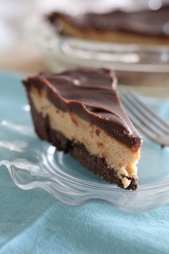 Sheri's Southern Peanut Butter Pie with Homemade Fudge Topping