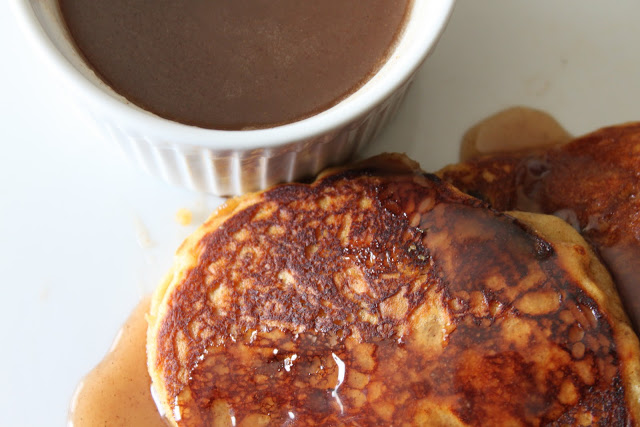 Jo and Nick's Gingerbread Pancakes with Cinnamon Syrup