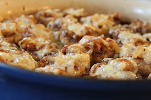 French Onion Soup Stuffed Mushrooms- Pioneer Woman