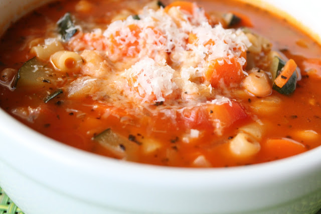 Minestrone soup swap
