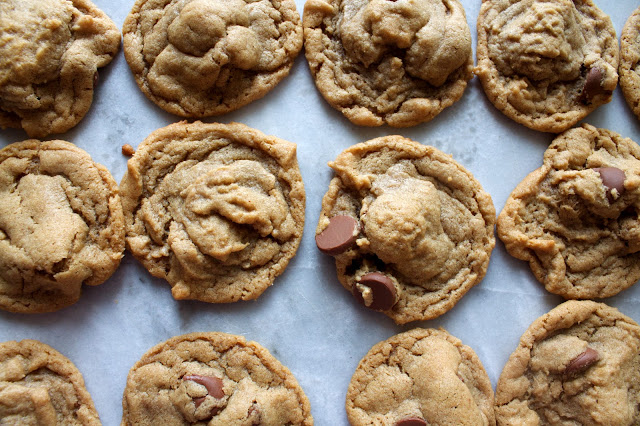 Super Simple 5 Ingredient Peanut Butter Chocolate Chip Cookies