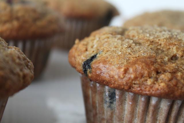 Blueberry-Banana Light Wheat Muffins
