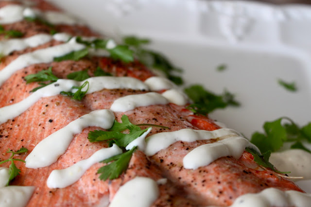 Grilled Salmon with Simple Lemon Aioli