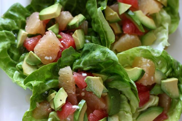 Butter Lettuce, Grapefruit and Avocado Salad