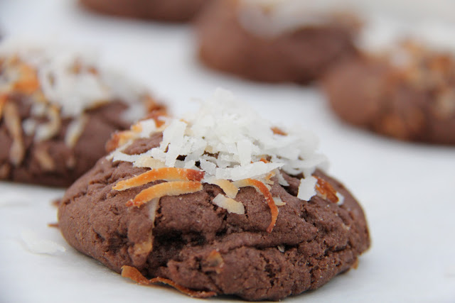 Chewy Chocolate Coconut Cookies