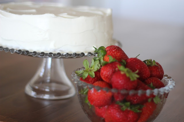 Strawberry Shortcake with Whipped Cream Frosting