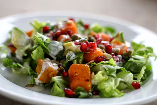 Harvest Salad with Buttermilk Sage Dressing