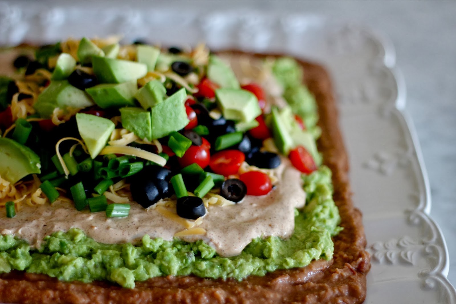 Classic 7 Layer Dip | A Bountiful Kitchen