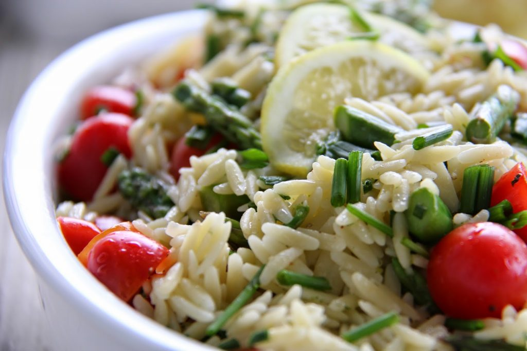 Orzo Salad with Fresh Lemon and Chive Dressing