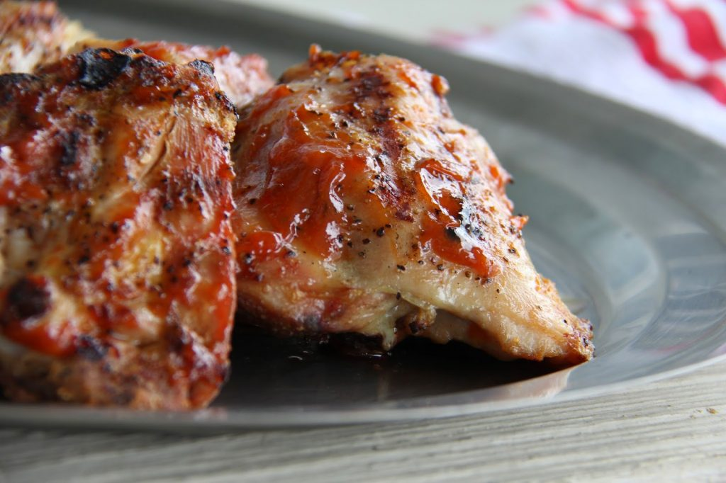 Best BBQ Chicken Thighs with Honey-Orange BBQ Sauce