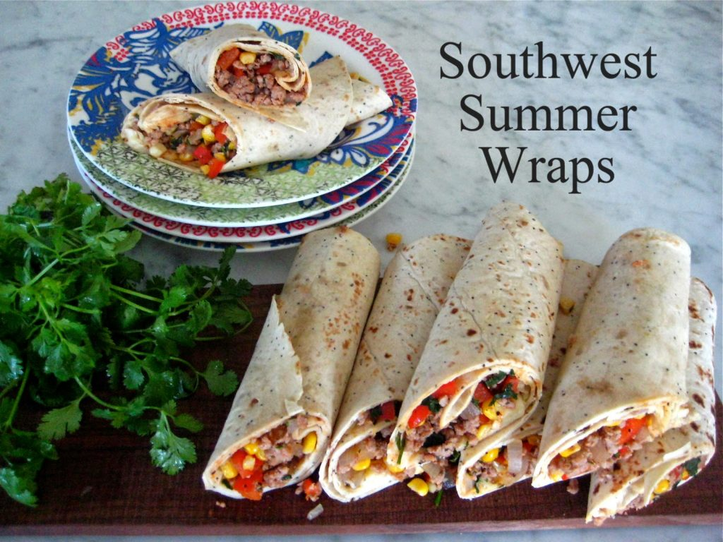 Southwest Summer Turkey Wraps
