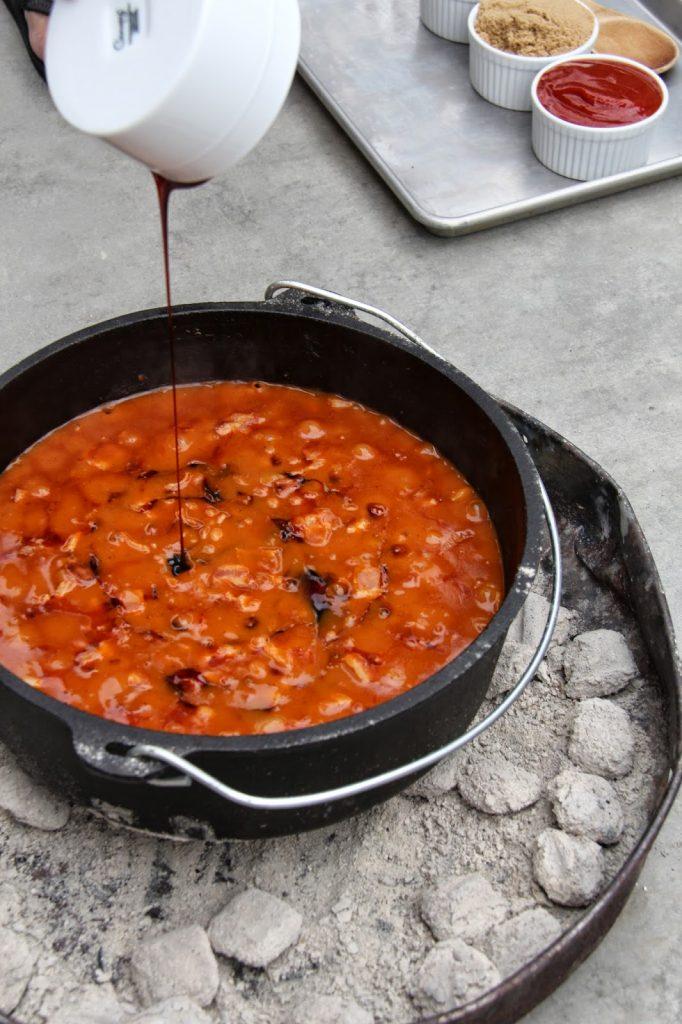 Dutch Oven Molasses Baked Beans