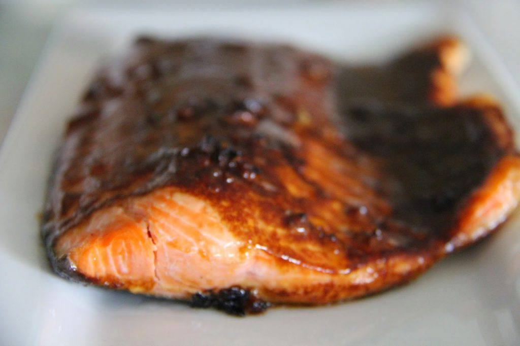 Salmon with Teriyaki BBQ Glaze