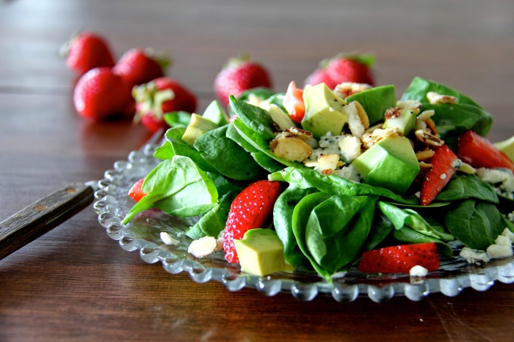 Strawberry-Avocado Spinach Salad with Copycat Brianna's Poppyseed Dressing