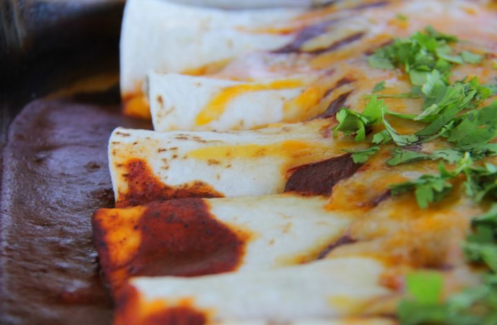 Slow-Cooked Beef Enchiladas with Red Chili Sauce