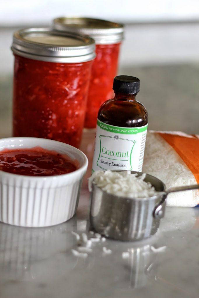 Strawberry Coconut Freezer Jam